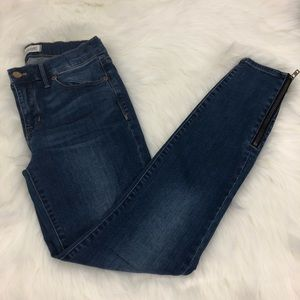 Madewell skinny skinny ankle jeans (ankle zipper)